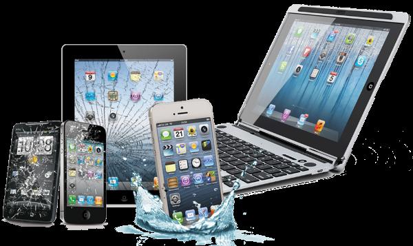 zersplitterte Apple Geräte